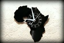 "Vinyl Record Wall Clock  I love Africa Series Nigeria  Silent Mechanism 12"" LP"