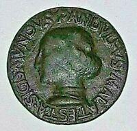 1447 SIGISMONDO PANDOLFO MALATESTA RIMINI e FANO BRONZE MEDAL MEDAGLIA de' Pasti