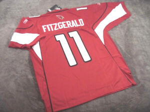 LARRY FITZGERALD #11 - Arizona Cardinals RED Stitched Jersey -- ALL SIZES AVAIL.