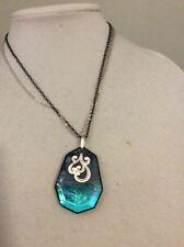 Brighton Shell Shimmer Pendant Blue Necklace Jn4466