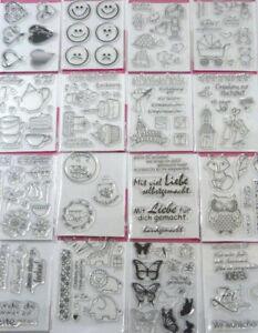Abverkauf Stempel Clear Stamp Silikonstempel  Einladung Hochzeit Taufe Set