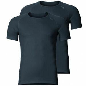 Odlo Shirt s/s Crew Neck CUBIC Light Doppelpack Men black   192282-93090