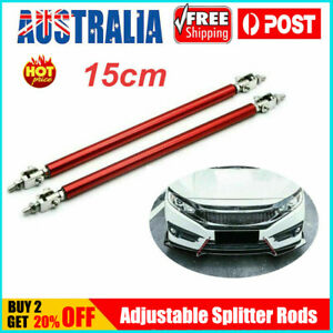 AUTO Universal Adjustable Bumper Splitter Lip Spoiler Strut Support Tie Bar Kit
