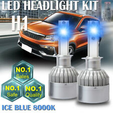 2PCS H1 LED Headlight Bulbs 8000K ICE Blue Conversion 100W 20000LM High Low Beam