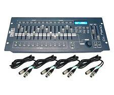 CHAUVET*OBEY 70+CABLES+WARRANTY*DMX-512 Light/Fog Controller+10' & 25' Cables