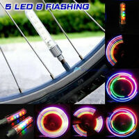 Motorcycle Bicycle Car Bike 2x 5 LED Flash Light Tyre Tire Wheel Valve Lamp