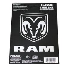 Original Dodge Ram Pick Up Classic Emblem Chrom Schriftzug Logo Aufkleber Decal