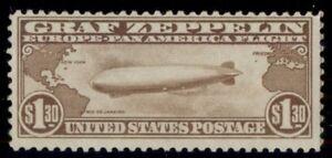 US #C14 $1.30 Zeppelin, og, NH, VF, Scott $550.00