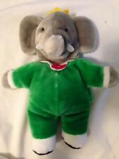 Babar the Elephant King Hand Puppet Plush 1988 Gund book character Brunhoff