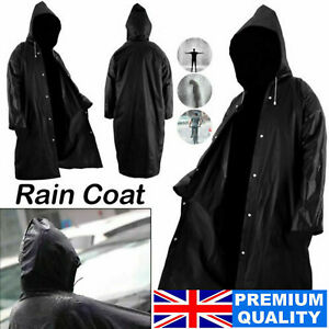 WATERPROOF RAIN COAT LONG PONCHO WOMEN MEN OUTDOOR RAINCOAT EVA CLOTH WITH HOOD