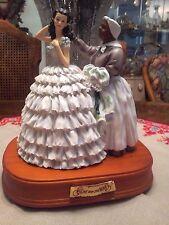 SAN FRANCISCO MUSIC BOX GONE WITH THE WIND SCARLETT & MAMMY WHITE DRESS