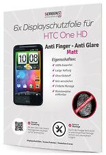 6x Schutzfolie für HTC Desire HD Matt Anti Finger Displayschutzfolie Anti Glare