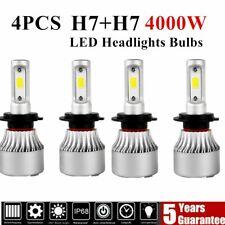 4X H7 LED Headlight Conversion Kit COB Bulb 2000W 6400LM White High Power 6000K