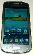 Samsung Galaxy Axiom R830 Silver Gray U.S. Cellular Smartphone Cracked Glass