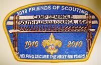 OA SOUTH FLORIDA COUNCIL OA 265 PATCH 2010 BSA 100TH ANN FELT FOS $250 DONOR CSP