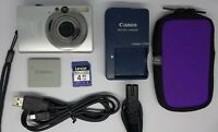 Canon IXUS 80 IS 8.0MP Digital Camera - Silver 4 GB Memory card