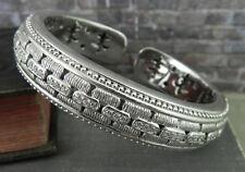 Judith Ripka Sterling Large Diamonique Panther Link Cuff Bracelet