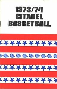 1973-74 CITADEL BULLDOGS BASKETBALL MEDIA GUIDE