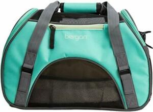Bergan Soft-Sided Comfort Pet Dog/Cat Carrier, Small-Caribbean Blue/Gray NWT