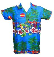 MENS HAWAIIAN SHIRT STAG BEACH HAWAII ALOHA  SUMMER HOLIDAY FANCY NEW BLUE SUN