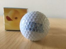 """New Titleist  """"IT'S A BOY"""" Logo Golf Ball - Great Gift For Dad"""