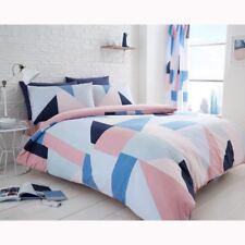Sydney Géométrique Simple Housse de Couette & Taie Set Moderne Literie Bleu &