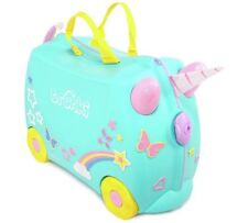 Trunki Una the Unicorn Ride-On Suitcase Silky Rainbow Tail, Attachable Spiral_UK