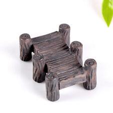 Wooden bridge Garden Figurine Crafts Micro Landscape DIY Potted decoration FG