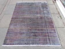 Traditional Hand Made Persian Oriental Purple Mouve Wool Gabbeh Rug 180x140cm