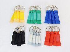 24 Key Rings, Nylon Webbing Fob w/Silicon Thumb Pad, Assorted Colors ~ #KC-795