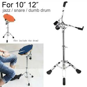 Foldable Floor Drum Stand Tripod Holder Rack for 10 12 Inch Jazz Snare Dumb Drum
