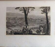 ITALIA. ROME FROM MONTE MARIO. GRABADO ORIGINAL DE HAKEWILL, 1820