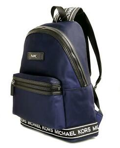 Michael Kors Backpack Bag Unisex Kent Backpack Blue Nylon New