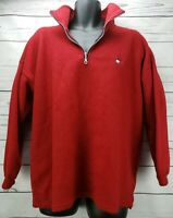 Vintage Tommy Hilfiger Men's Size XL 1/4 Zip Up Fleece Pullover Sweatshirt