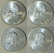 1995 and 1996 Canada 25 Cents BU
