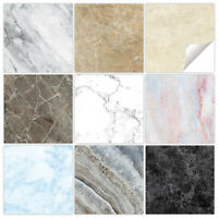 Marble Tile Stickers - 9 Colour Styles - Bathroom Kitchen Custom Sizes - MM1