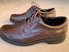 Rockport mens adiPrene Inserts Brown Leather Dress Oxford Shoes 9 M