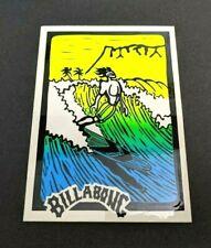 Vintage Neon Billabong Surf Wave Sticker Surfer Surfing Decal