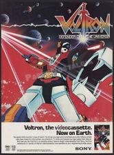 VOLTRON : Defender of the Universe__Original 1985 print AD / ADVERT__Jack Angel