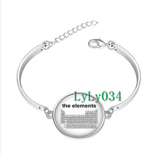 Periodic Table Science glass cabochon Tibet silver bangle bracelets wholesale