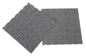 Dflect Rubber Tiles - Grey - 400mm - Interlocking - Play Areas - Terraces