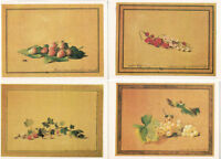 FOUR Russian postcards BOTANICAL DRAWINGS (BERRIES) by F.Tolstoy