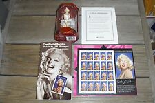 Marilyn Monroe 1995 Signed Stamp Sheet 1996 Stamp Guide & Carlton Cards Ornament