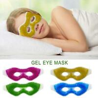 Gel Eye Mask Cold Pack Warm Hot Heat Ice Cool Soothing Tired Eyes Pad