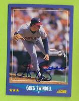 1988 Score In Person Auto - Greg Swindell (#154)   Cleveland Indians