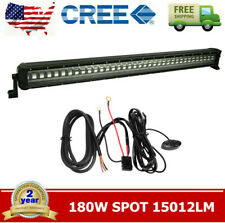 "39""inch 180W Flashing LED Light Bar Spot Beam Driving Offroad SUV 39.6""+Harness"
