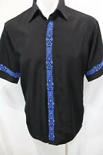 DRAGONFLY CLOTHING COMPANY Embroidered TRIBAL Button Front Casual SHIRT M