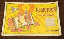 RELIGIOUS Vintage Tri-Chem Hot Iron Transfer Patterns Book 14 Pages