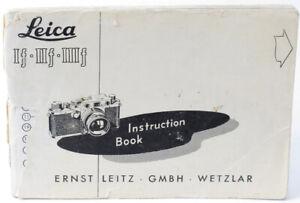 Original Leica IF IIF IIIF Rangefinder Camera Instruction Manual 3F - English