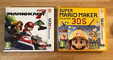 2 x Nintendo 3ds Game Bundle - Mario Kart 7 & Super Mario Maker